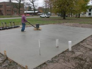 Brandon concrete pads for RV, sheds, AC, basketball